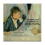 Female Artist Morisot Quote Tile Coaster