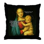 Raphael Madonna Painting Throw Pillow
