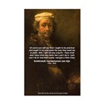 Renbrandt Self Portrait & Quote Mini Poster Print
