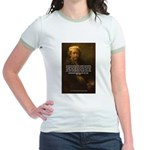 Renbrandt Self Portrait & Quote Jr. Ringer T-Shirt
