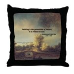 Rembrandt: on God & Painting Throw Pillow