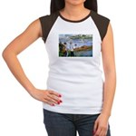 Renoir Painting: Art & Beauty Women's Cap Sleeve T