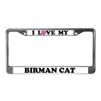 Birman Cat License Plate Frames