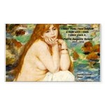 Renoir Impressionist Nude Rectangle Sticker