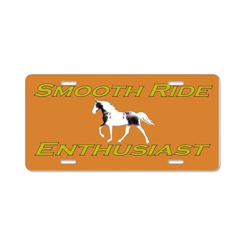 Smooth Ride Spotted Saddle Spotted Mountain Horse License Plates
