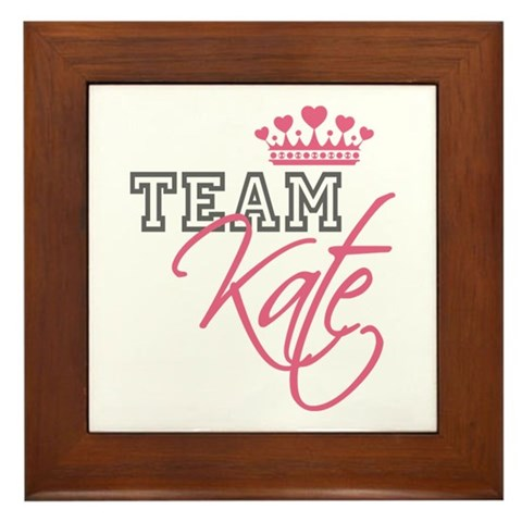 royal wedding date and time. Team Kate Royal Crown Framed