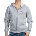 Hope Believe Diabetes Women's Zip Hoodie