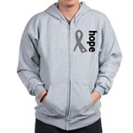 Hope Ribbon Diabetes Zip Hoodie
