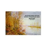 Alfred Sisley Nature Quote Rectangle Magnet (10 pa