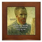 Vincent Van Gogh Quote Framed Tile
