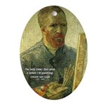 Vincent Van Gogh Quote Oval Ornament