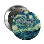 "Starry Night Vincent Van Gogh 2.25"" Button (100 pa"