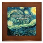 Starry Night Vincent Van Gogh Framed Tile