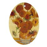 Van Gogh Painting & Quote Oval Ornament