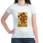 Van Gogh Painting & Quote Jr. Ringer T-Shirt