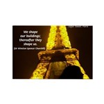 Art Architecture Eiffel Tower Rectangle Magnet (10