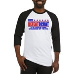 Vote Defeatocrat (Democrat) Baseball Jersey