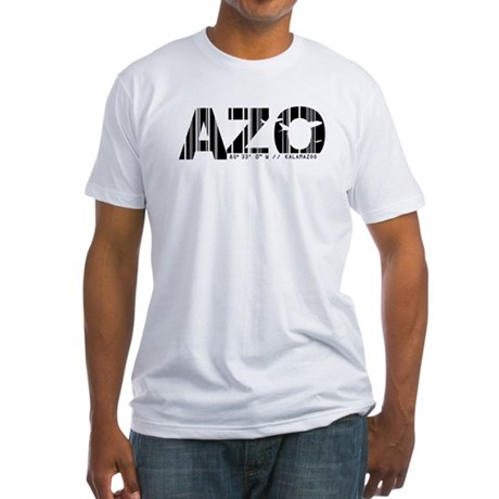 Kalamazoo Airport Code AZO Fitted T-Shirt