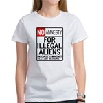 NO AMNESTY FOR ILLEGALS Women's T-Shirt