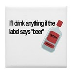Funny Beer Drinker's Tile Coaster