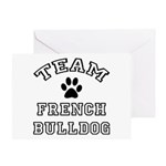Team French Bulldog Greeting Cards