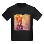 St. Michael Prayer in Latin Kids Dark T-Shirt