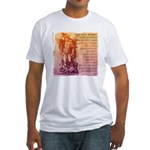 St. Michael Prayer in Latin Fitted T-Shirt