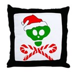 Christmas Santa Skull Throw Pillow