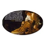 Religious Art & Beauty Oval Sticker