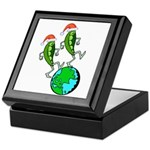 Christmas Peas on Earth Keepsake Box