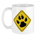 Cat Paw Crossing Sign Mug