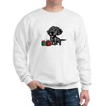 Black Lab Christmas Sweatshirt