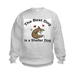 Best Shelter Dog Kids Sweatshirt