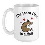 Best Mutt Dog Large Mug
