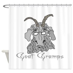 Goat Gramps Shower Curtain