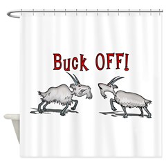 Goat Buck OFF Shower Curtain