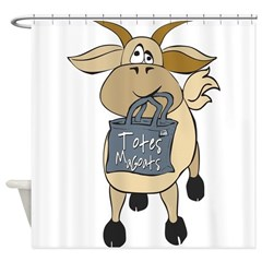 Goat Grandpa Shower Curtain