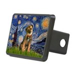 Starry Night / Border Terrier Rectangular Hitch Co