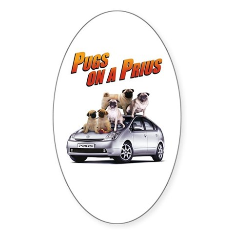 watch pugs on a prius