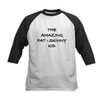 Amazing Fat Skinny Kids Baseball Jersey