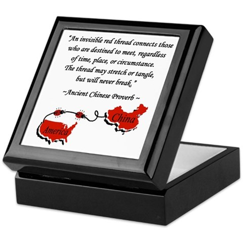 Red Thread Adoption Keepsake Box