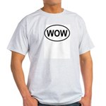 Wow Funny European Oval Light T-Shirt