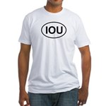 IOU European Oval Cheap Skate Fitted T-Shirt