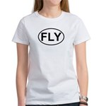 Fly Pilot Flying European Oval Women's T-Shirt