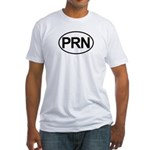 PRN As Needed Medical Oval Fitted T-Shirt