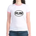 Rum Booze Alcohol Drink Oval Jr. Ringer T-Shirt