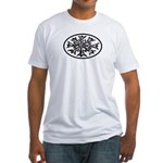 Snowflake Winter European Oval Fitted T-Shirt