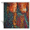 Colored Paisley Shower Curtain