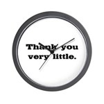 Thank you very little Wall Clock