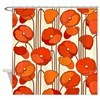 Beautiful Red Poppies Retro Floral Shower Curtain